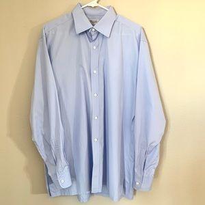 Charvet Light Blue Cotton Button Down Shirt L